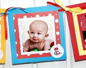 Dr. Seuss or Any theme- Month by Month- 12 month photo banner- 1st Year  Photo Birthday Banner- Photo's Included