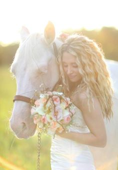 Rustic Bridal - Bride and Horse 5 *{Wings of Glory Photography}