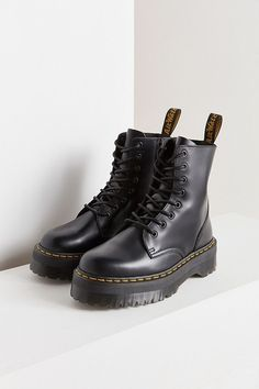 Martens Jadon Platform Boots at Urban Outfitters today. Doc Martens Outfit, Doc Martens Boots, Doc Martens Black, Combat Boot Outfits, Combat Boots, Dr Shoes, Me Too Shoes, Jeans Shoes, Shoes Sandals