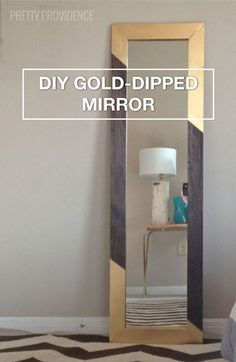 Add A Bit Of Geometric And Metallic Pattern To Your Bedroom Or Bathroom Mirror With This