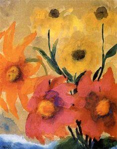 View past auction results for EmilNolde on artnet Emil Nolde, Global Art, Art Market, Past, Auction, Shapes, Artist, Painting, Expressionism