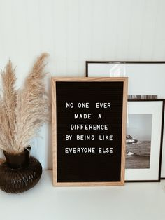 No one ever made a difference by being like everyone else- P. Chef Quotes, Make A Difference, Quote Of The Week, Everyone Else, Holiday Wreaths, Different, Captions, Meant To Be, Poems