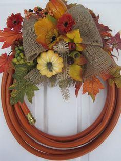 hose wreath, very creative!