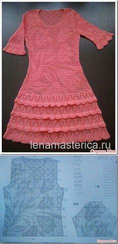 . Платье 'Тюльпаны' автор Лена Мастерица - Все в ажуре... (вязание крючком) - Страна Мам