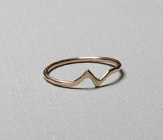 Gold Bolt Ring