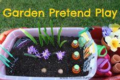 Garden Pretend Play and Sensory Bin Ideas