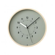Awa Clock - Grey http://www.awatsujidesign.com/works/graphic/awa-clock.html