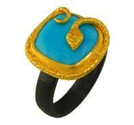 Lika Behar Snake Turquoise Ring
