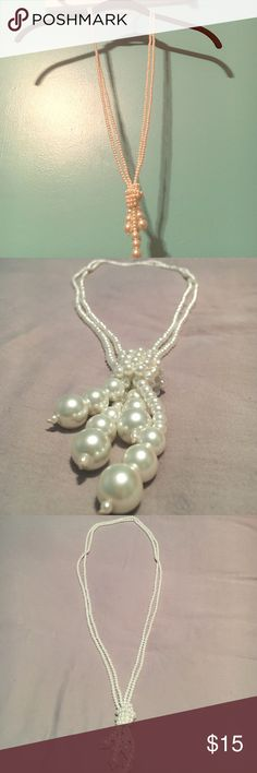 Pearl Necklace Beautiful Long Pearl necklace NWOT Cato Jewelry Necklaces