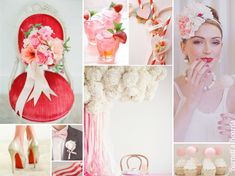 {cotton candy} red and pink wedding inspiration and ways to use cotton candy in your wedding