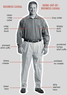 Helpful guide to staying within the gray area of business casual