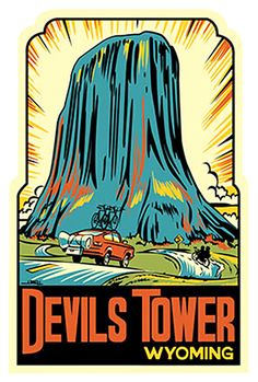 Devils Tower ~ WY decal