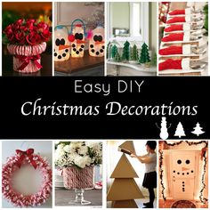 These DIY Holiday Decorations are super cute and so easy to make! They make great Christmas projects for kids and this easy holiday decor will create a festive and cheerful home to celebrate the holiday!