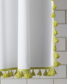 Check out the French Tassel Shower Curtain and the rest of our unique Shower Curtains at Serena and Lily. Decorative Accessories, Home Accessories, Sewing Accessories, Young House Love, Object Lessons, Kids Bath, Guest Bath, Interior And Exterior, Interior Design