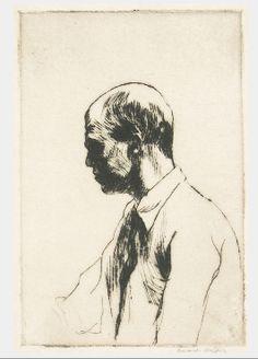 Edward Hopper, drypoint  http://drawingowu.wordpress.com/2011/11/12/more-head-studies/