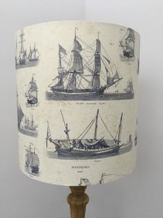 A personal favourite from my Etsy shop https://www.etsy.com/uk/listing/293199887/drum-lampshade-fathers-day-vintage-ships