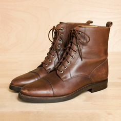 ankle lace up flat boots for women brown - Google Search