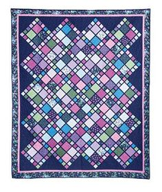 Pieced Lap Quilt Throw Pattern to Make in a Variety of Different Ways