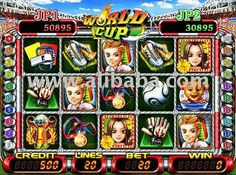 VIDEO SLOT GAME BOARD - WORLD CUP