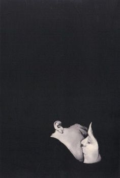 9)The role of the negative space in this image draws you to the subjects kissing envelops the viewer in the moment. This creates a feeling of a private interlude.  Photo:John Stezaker, 1976