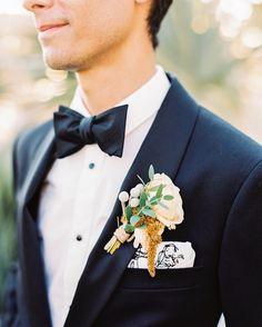 Grooms in bow ties.