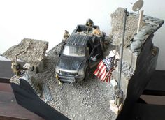 """Diorama """"US Camp in Afghanistan ( PMC at Work )"""""""