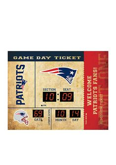 ad8d049d2 Team Sport America Bluetooth Scoreboard Wall Clock New England Patriots