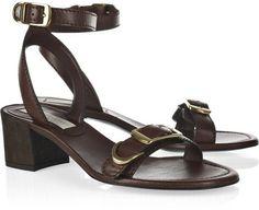 Stella Mccartney Brown Buckled Fauxleather Sandals