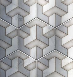 Alston Tribeca Hexagon Tile Featured on Carrara