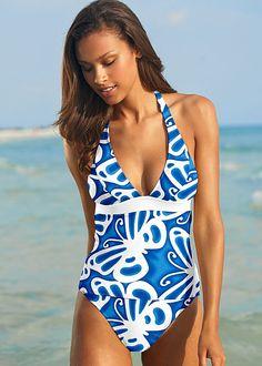 9631352e32cbf Halter tankini, high waist moderate Bathing Suit Bikini Bottom Styles,  Venus Swimwear, Tankini
