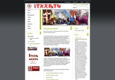 1976 urtean sortutako Itxartu talde kulturalaren web orria. / Página del grupo cultural Itxartu, creado en Algorta en el año 1976