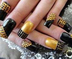 40 Best Black And Yellow Nails Images On Pinterest Pretty Nails