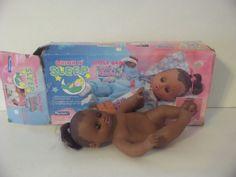 Vintage Playmates Drink N' Sleep Waterbabies doll African American  water baby #Dolls