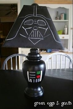 Darth Vadar DIY lamp. Wonderful addition to any child's room.