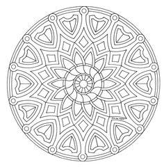 mandala_245 Mandala coloring pages