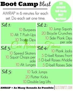 Amrap workout 6 minutes
