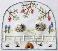 Stumpwork Sheep 3 Embroidery Pattern от Theflossbox на Etsy
