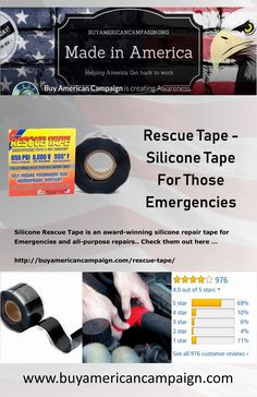 Silicone Rescue Tape is an award-winning silicone repair tape for Emergencies and all-purpose repairs. Check them out here . Silicone Tape, Silicone Adhesive, American Manufacturing, Radiator Hose, Get Back To Work, Time Clock, Create Awareness, Purpose, Usa