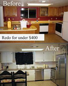 My Kitchen Redo under $400!