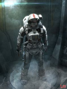 Futuristic Space Suit Design by Jeff Miller