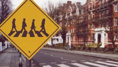 """Abbey Road"" sign. Genius!"