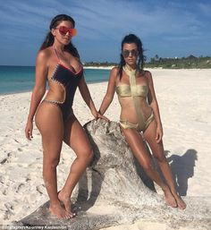 Bahama mama!Kourtney Kardashian, 37, certainly made the most of her time in the sunshine on Friday, as she stripped to a raunchy swimsuit to top up her tan in the Bahamas