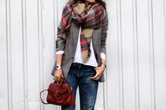 Plaid meet blazer