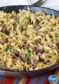 Busy weeknights call for quick and easy dinners and this recipe for One-Pot Beef Stroganoff from Inspired Gathering is here to answer the phone! Made with traditional comfort food flavors, your family will love every bite.