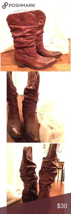 🎀 Steve Madden Brown Sadddle Boots Steve Madden Cowboy Boots Worn but good condition Some wear on toes for that worn in look Steve Madden Shoes Heeled Boots