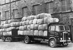 Wagons at Victoria Mill in the 1950s