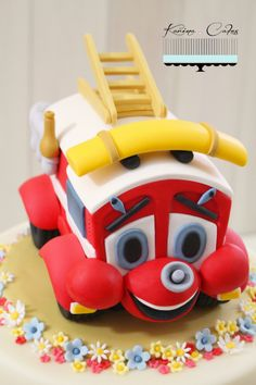 Finley hasičské auto - Finley Fire Engine Cake