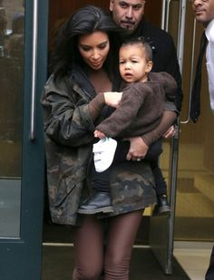 North West Photos - Kim Kardashian and North Step Out in NYC - Zimbio