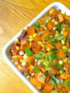 Sweet Potato and Corn Hash Recipe - An easy and healthy Thanksgiving side dish! - The Lemon Bowl