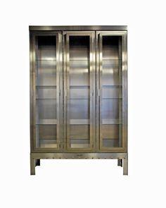 BLOK aluminium window cabinet / BLOK aluminium vitrine kast